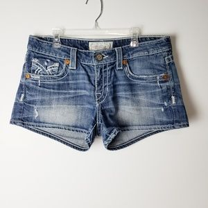 Big Star Liv Distressed Denim Shorts Size 30